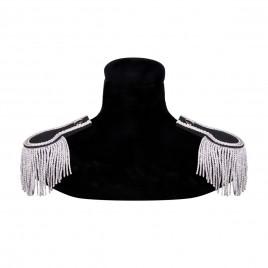 Epauletten zwart/zilver