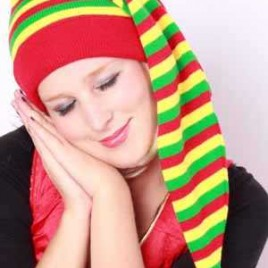 Slaapmuts rood/geel/groen