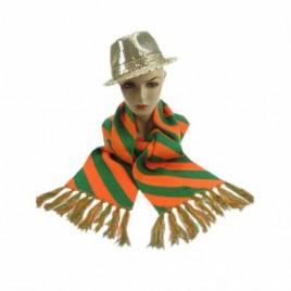 Sjawl gebreid oranje/groen