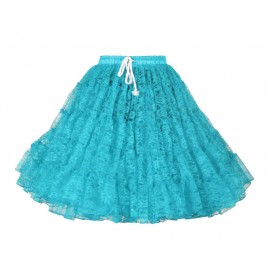 Petticoat  kant (turquoise/geel)