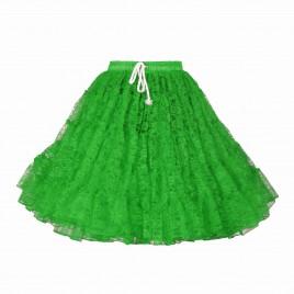 Petticoat kant (groen/pink)