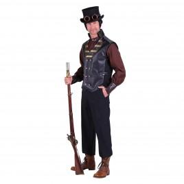 Steampunk vest Cyrus zwart