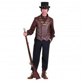 Steampunk vest Cyrus bruin