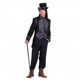 Steampunk jas Silas zwart
