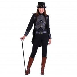 Steampunk jas Eulalia zwart