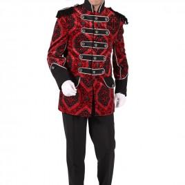 Brokaat jas heer rood