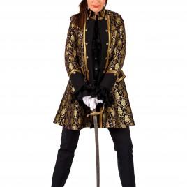 Dames jas Sparkling Lace (zwart/goud-paars/goud)