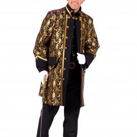 Heren jas Sparkling Lace (zwart/goud-paars/goud)