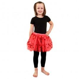 Tule Rokje met dots kinderen (rood/zwart/wit/roze)