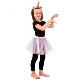 Tule Rokje kinderen (pastel unicorn/regeboog)