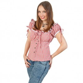 Bayern-blouse rood/wit