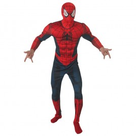 Spiderman Muscle Jumpsuit-Masker