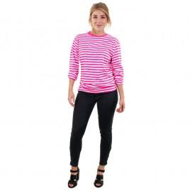 Dorus trui lange mouw (roze-wit volwassen en kinderen)