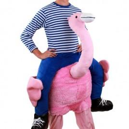 Geragen door Flamingo kostuum