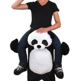 Gedragen door Panda kostuum