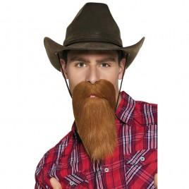 Cowboy baard-snor bruin