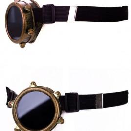 Steampunkbril monocle goud