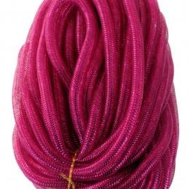 Decoslang tube (crazy cruls) neon roze 16 mm (per meter)